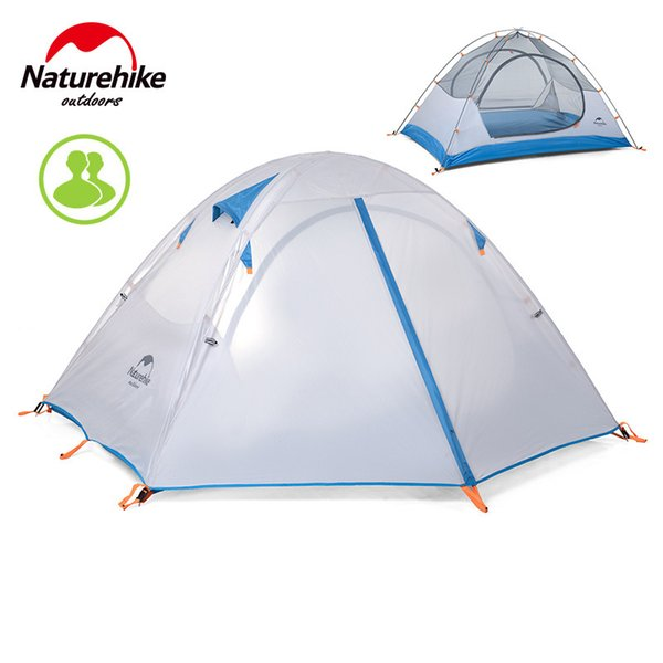 Wholesale- Naturehike Couple 2 Person Ultra Light 190T Waterproof Anti wind Hking Trekking Cycling Party Fishing Beach Outdoor Camping Tent