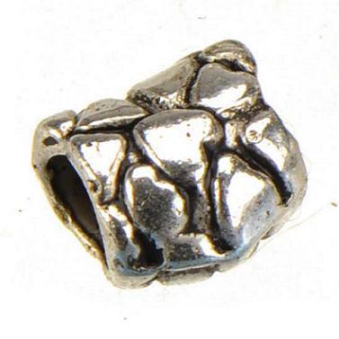 Bijoux Accessoires Perles Lâches Pandora Charmes Bracelets Européens BRICOLAGE Grand Trou Cœur Amour Vintage Argent Métal Artisanat Nouveau 9mm 200pcs