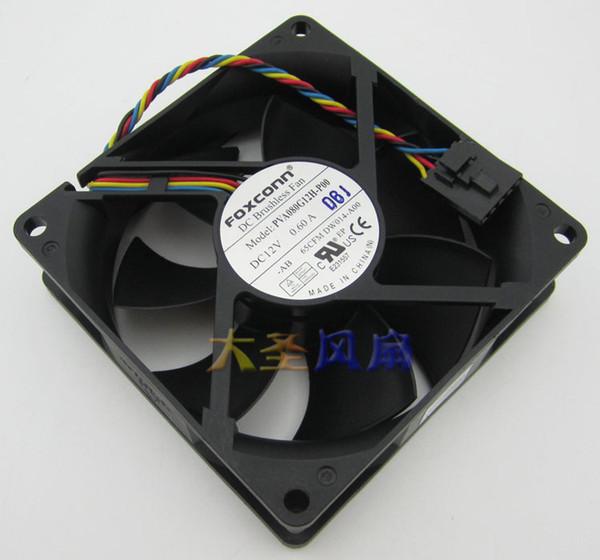 Original FOXCONN PVA080G12H-P00 12V 0.60A 8CM 8025 4 -wire for Dell computer fan