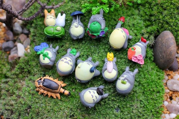 PrettyBaby Anime Cartoon Meu Vizinho Totoro Adorável Mini PVC Figuras Brinquedos Bonecas Crianças Brinquedos Presentes zakka estatueta resine frete grátis em estoque