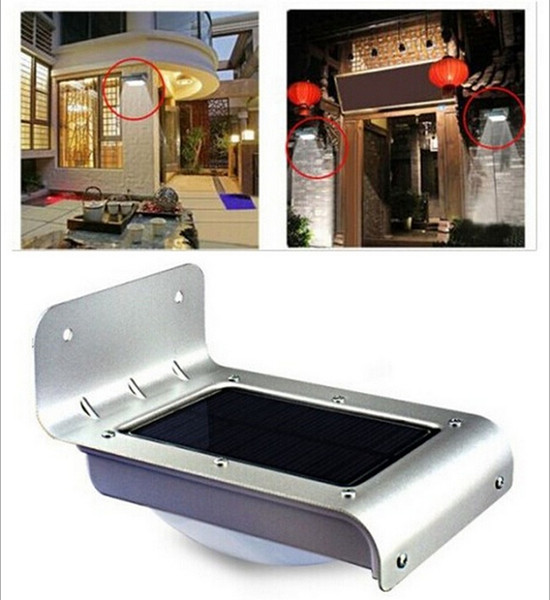 best selling 16 LED Solar Powered Motion Sensor Outdoor Garden Patio Path Wall Mount Security Lamp Night Light