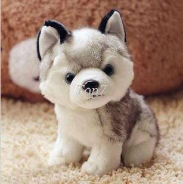 Christmas gifts Kawaii 18 CM Simulation Husky Dog Plush Toy Gift For Kids Stuffed Plush Toy Retail
