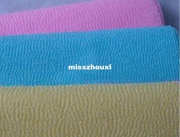 2016 Glove Rushed Bath Wholesale Salux Nylon Japanese Exfoliating Beauty Skin Shower Wash Cloth Towel Back Scrub Colors Hot Sell