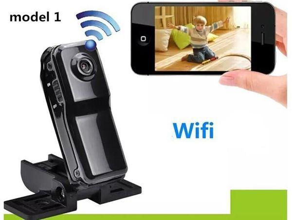 MD81 Wi-fi Mini DV DVR Sem Fio IP Esporte Câmera Digital Video Recorder mini DV MD81 MD81S preto com caixa de varejo 25 pcs