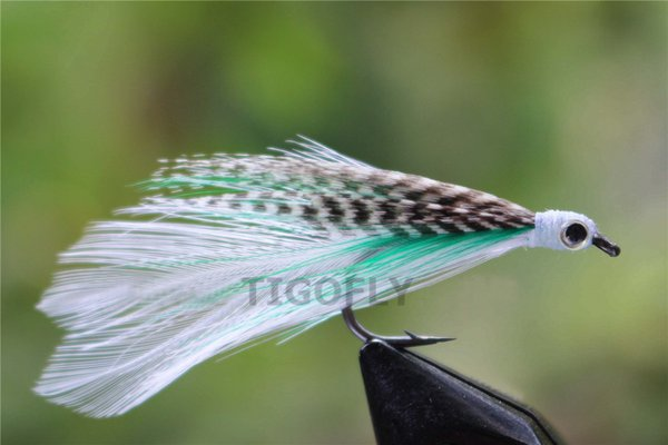 Tigofly 24 pcs/lot Discount Fly Top Quality Hair Wing Salmon Trout Fly Saltwater Fly Fishing Flies Lures