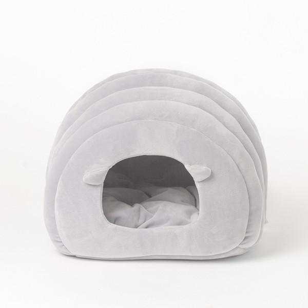 Gomaomi Karikatür Pet Kedi Yatak Cama Gato Küçük Köpek Çöpü Yarı-Kapalı Kedi Yavrusu Uyku Tulumu Evi Yuva Mat Ev Kediler için