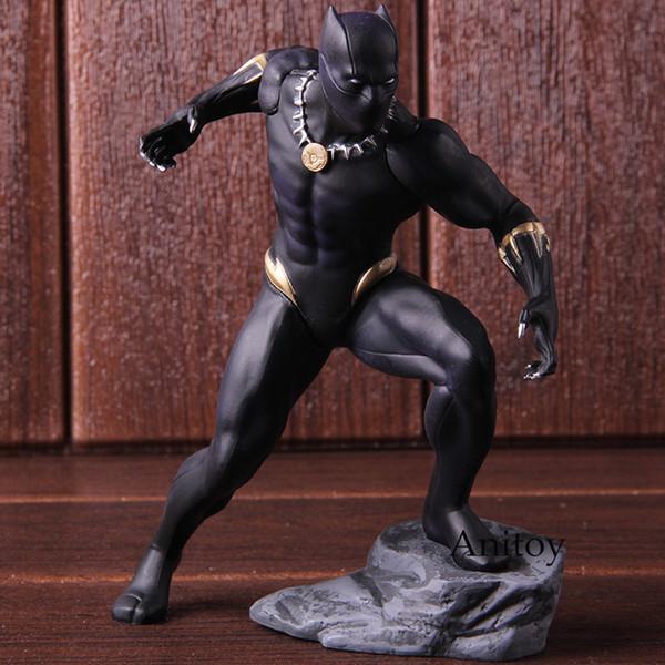 Marvel Avengers action Figure Black Panther Toys Kotobukiya Artfx Statue échelle 1/10 Pré-peint Modèle Kit PVC de collection Modèle T191129