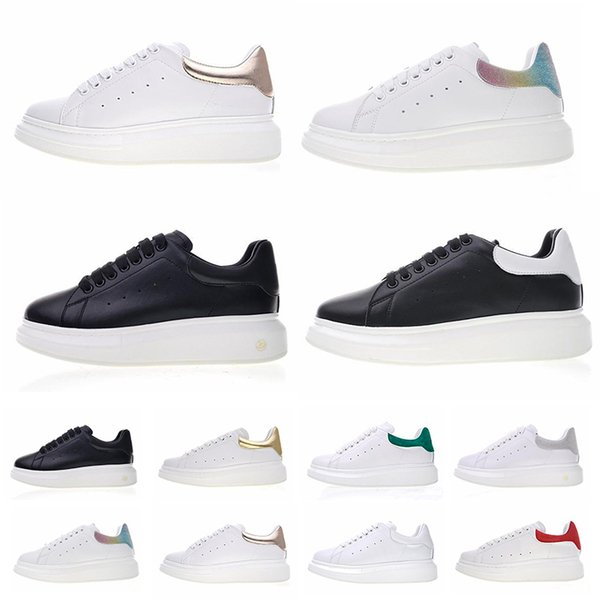 Vintage Luxury White Leather Platform Shoes Flat Casual Party Wedding Shoes For Womens Mens Trainers Sneakers Velvet Heelback Dress Shoes