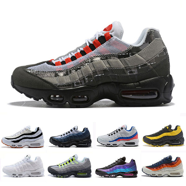 Compre Nike Air Max 95 Airmax 95 Shoes Chaussures OG Para Hombre Para Mujer Zapatillas Clásico Negro Rojo Blanco Hombres Trainer Surface Sports