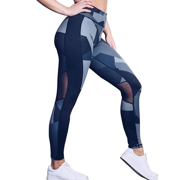 Ovesport Women Workout Mesh Patchwork Leggings Sexy High Waist Quality Fitness Women Leggigns Breathable Sportswear For Female