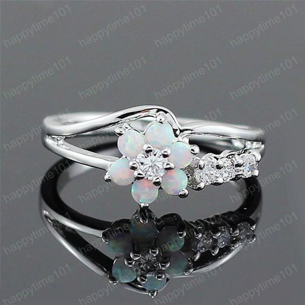 Flower Opal Ring diamond ring Wedding Rings luxury designer jewelry women rings new engagement rings for women designer ring jewelry