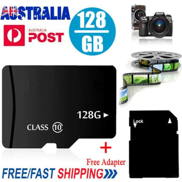 J-boxing Tarjeta Micro SD Clase 10 TF Tarjeta de memoria flash 8G 16G 32G 64G 128G para teléfono celular Cámara Tablet PC Adaptador SD gratuito 1GB 2G 4G 512M 256M