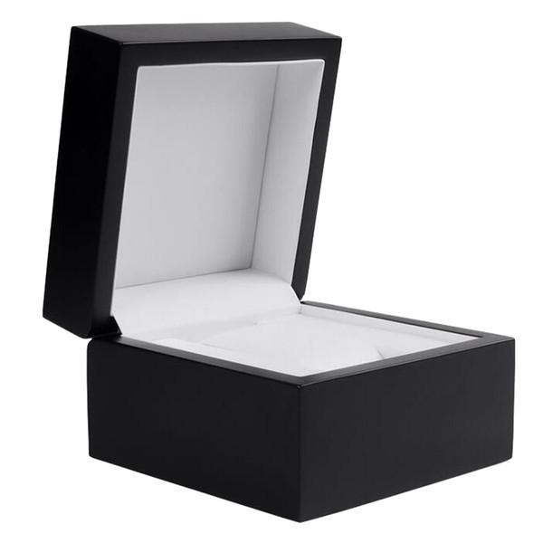Singolo caso di visualizzazione Griglia di vigilanza di orologio da polso Black Box di legno con l'ammortizzatore