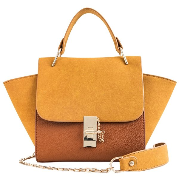 2018 Autumn New Chain Hand Bag Shoulder Bag High Quality Matte Crossbody Hit Color Wings Package #183007