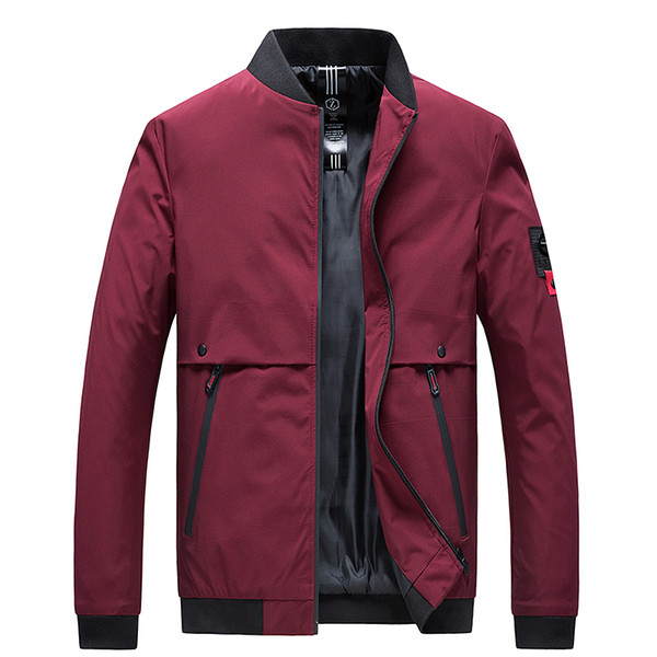 2019 New Men's Jackets And Casual Coats Fashion Men's Collar Slim Fit Spring Baseball Jacket Men Street Clothes Plus Size M-4xl