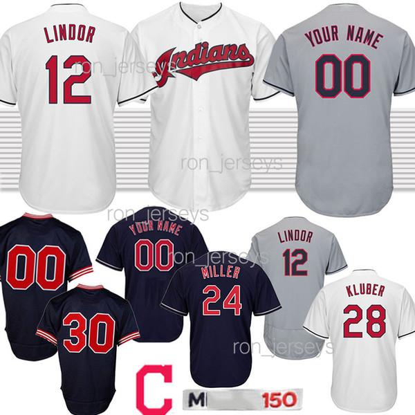best cheap 0bc29 7a4b9 2019 Customized Jerseys Cleveland Baseball Indians 30 Joe Carter 12 Lindor  24 Miller 28 Kluber 10 Edwin Encarnacion Design Jersey 2019 Hot Sale From  ...