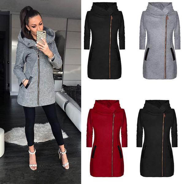 Fashion Designer Hoodie Women Autumn Winter Hoody Hip Hop Casual Zipper Women Hooded Sweatshirt Jacket hoodies Streetwear