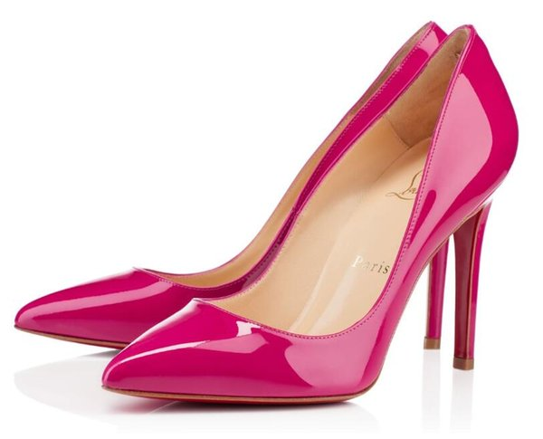 4cfd66864e6 Louis vuitton gucci Fashion Pointed Toe High Heels Designer Two Colors Red  Bottom Shoes Sexy Shallow