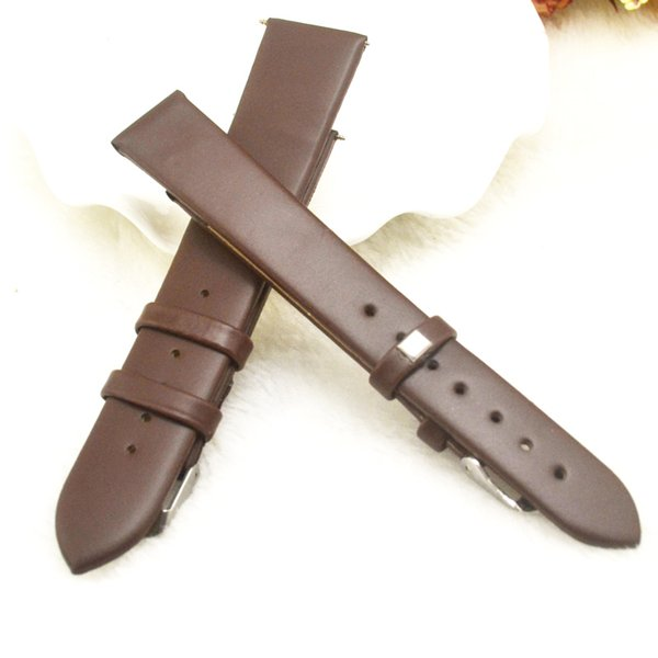 Genuine Leather Watch Strap Diver Watch Band Rubber Wrist Bracelet Watchband 16mm 20mm with Stainless Steel Buckle Clasp