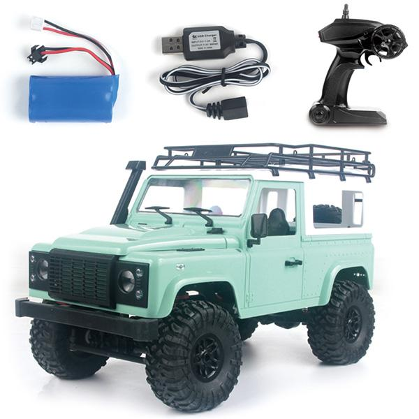 MN-90 1/12 2.4G 4WD RC voiture W / Front LED lumière 2 corps Shell toit Rack Crawler Monster Truck RTR jouet