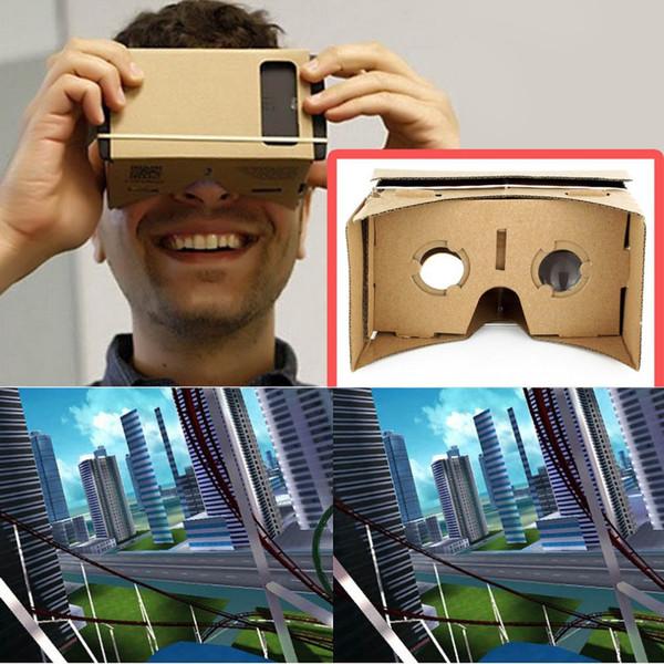 VR Ulter fai da te cartone 3D Box VR occhiali realtà virtuale per smartphone fai da te magnete Google Cartoni occhiali