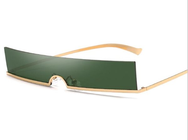 Pequeñas gafas de sol sin marco Cuadrado Medio marco de metal Gafas de sol Hombres Mujeres Fresco 2019 Nueva moda Vintage Diseñador Gafas 6 colores