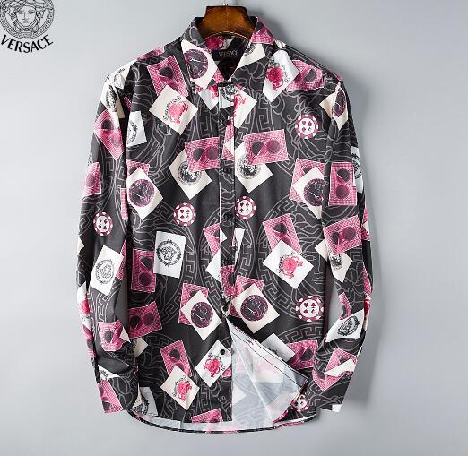 Newest Fashion Autumn Mens Shirt Candy Slim Fit Luxury Casual Stylish Dress Shirts Colours Plus Sizes M-3XL =108