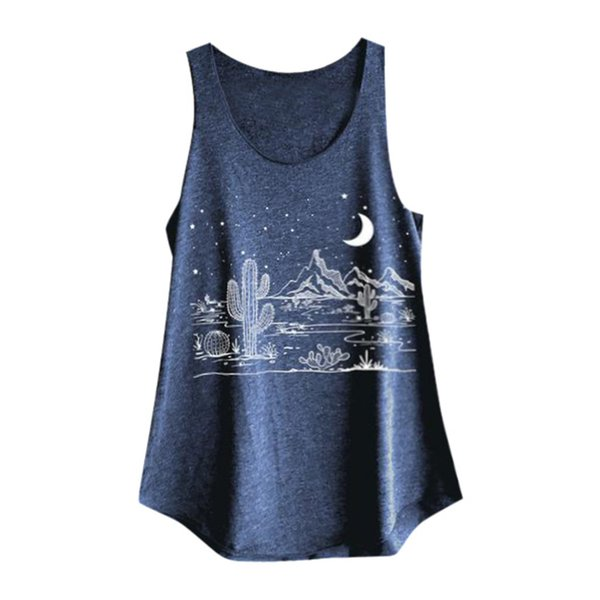 wrapped in chest and no steel ring vest Sexy Women Women Sleeveless Print Shirt Casual Loose Tank Top Soft Comfortable Top #89