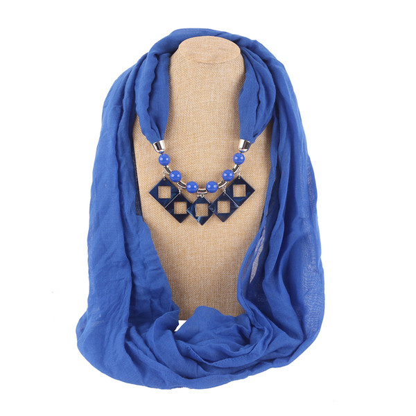 New ethnic style amber necklace ladies scarf headscarf resin effect jewelry pendant free shipping