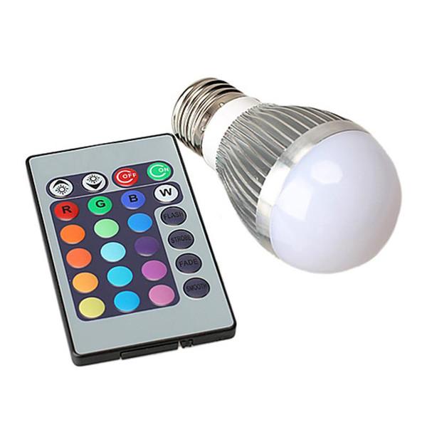 5W RGB LED Bulb E27 Energy Saving 85-265V LED Spot Light 16 Color Change with IR Remote Control Stage Light Magic Lamp