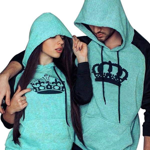 Lässige Mode Loves 'Männer Frauen Print Langarm Hoodies Sweatshirt Paar Hemd Tops Bluse Mit Tasche Moletom Masculino 10