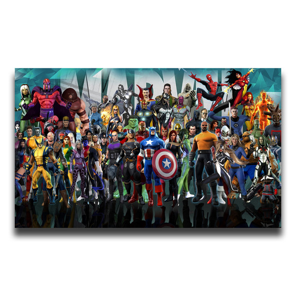 2019 Marvel Poster Canvas Painting The Avengers Super Heroes Wall Art HD  Movies Figure Pictures For Living Room Bedroom Home Decor From Iwallart, ...