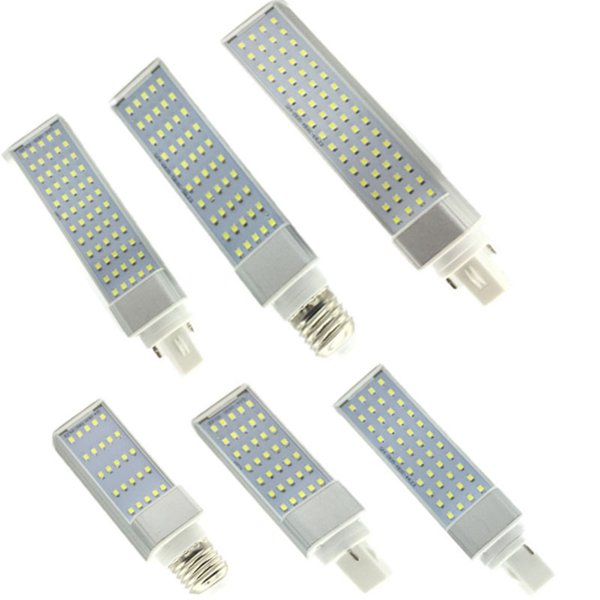 SMD 2835 LED Horizontal Prise lampe E26 E27 G23 G24 LED de maïs Ampoules 5W 7W 9W 10W 12W AC85-265V éclairage vers le bas