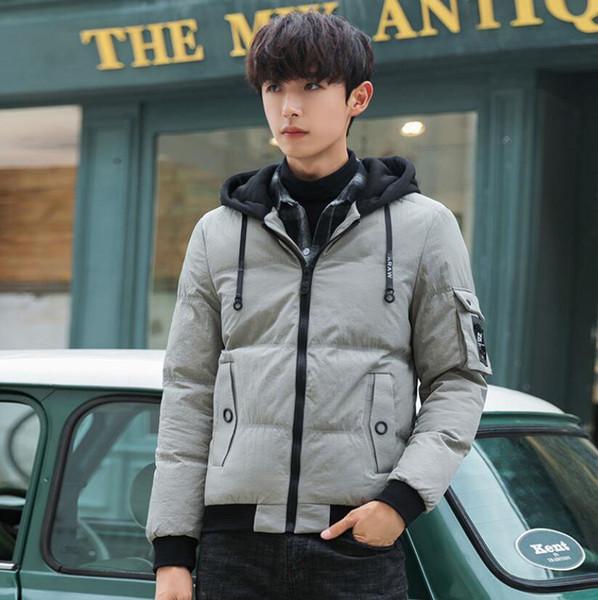 New Winter Down Jacket for Men Doudoune Mens Winter Designer Jackets Long Sleeve Fleece Warm Coats
