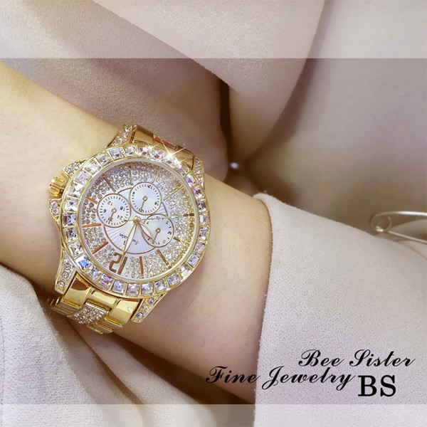 Waterproof Gold Watch Women Quartz Ladies Top Brand Luxury Female Women's Bracelet Watches Girl Clock Relogio Feminino C19010301