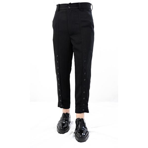 S-6XL !! Ev yapımı, erkek rahat, orijinal, dokuz nokta düğmeli dikişli, pantolon harem.