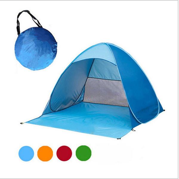 Автоматическая палатка для 2 человек Пляжная палатка Защита от ультрафиолетовых лучей Укрытие на открытом воздухе Мгновенное всплывающее окно Летняя рыбалка Пешие прогулки