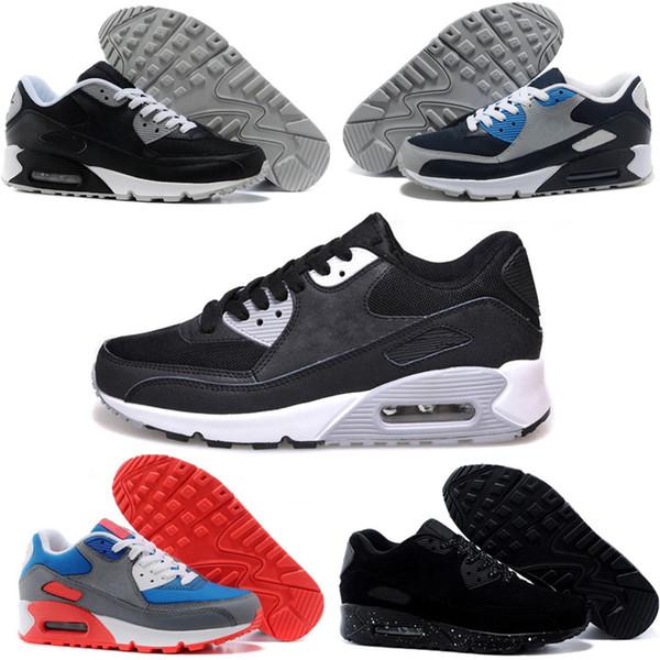 Nike air max 90 SıCAK SATMAK Mens Sneakers Ayakkabı klasik 90 Erkekler ve kadınlar Koşu Ayakkabıları Spor Eğitmeni Yastık Yüzey Nefes Spor Ayakkabı 36-46