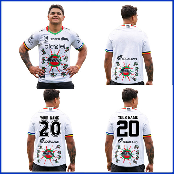 top popular 2020 South Sydney Rabbitohs Home ANZAC rugby Jerseys National Rugby 2020 SOUTH SYDNEY RABBITOHS INDIGENOUS JERSEY size S-5XL 2020