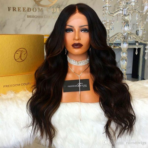 Charming High Quality 100% Virgin Human Hair Natural Soft Long Body Wavy Wig Glueless Brazilian Lace Front/Full Lace Wigs for Black Women
