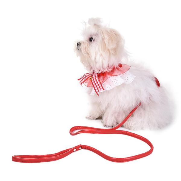 Pet Collar Cute Fashion Bowknot Decoration Adjustable Dog Collar Pet Necklace Accessory Small Medium Dog Cat Supplies Leash