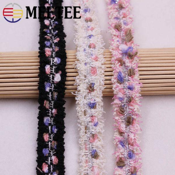Meetee 2cm Fashion Cotton Webbing Ribbon DIY Bag Woolen Clothes Dressing Accessories Lace Headband Handmade Material BD423