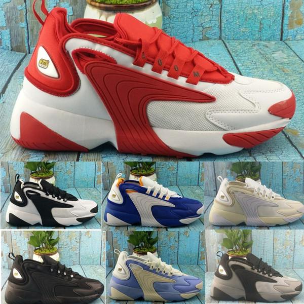 Acheter Nike Date Zoom 2K Voile Blanc Noir Marine Orange Hommes Sports De Plein Air Chaussures 90 Style De Basketball M2k Tekno Modèle Mode Hommes