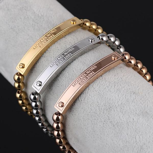 Braccialetti per le donne Bracciali Braccialetti in metallo Braccialetti con braccialetti a cuore Braccialetti Jewellry Braccialetti Regali Bracciali in acciaio al titanio Pulsera