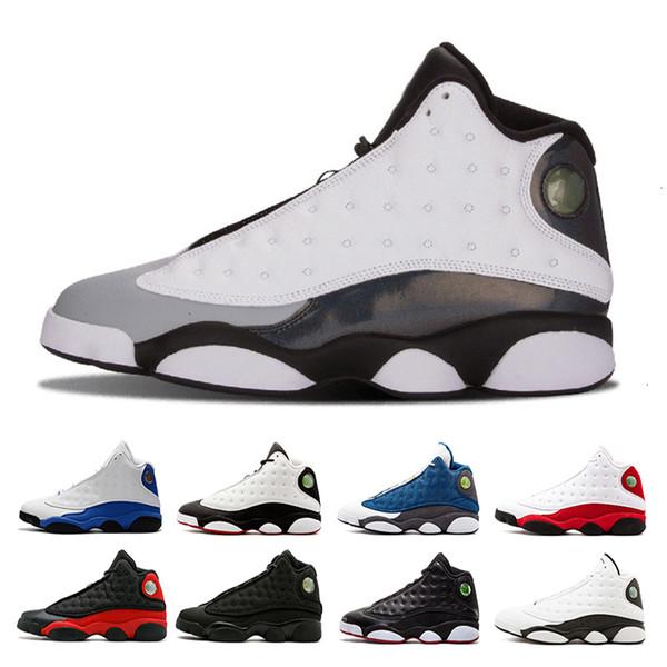 O transporte da gota 13 Fantasma sapatos masculinos de basquete Ele Got Game gato preto Playoffs Hiper Real Itália Blue criados Chicago 13s esportes da sapatilha das sapatas