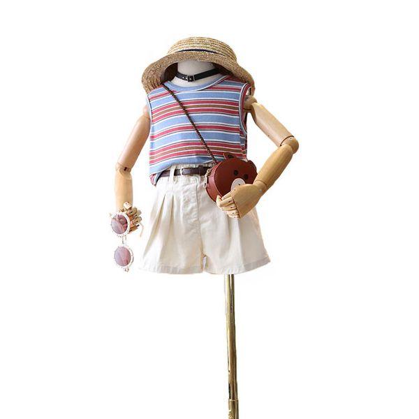 Girls suits Summer kids designer clothes girls outfits stripe+shorts 2pcs kids sets fashion kids clothes Boutique girls clothes A6205