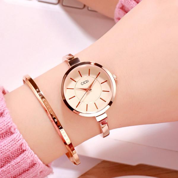2019 women's  watch fashion minimalist bracelet watch girl waterproof ladies simple female gold hand