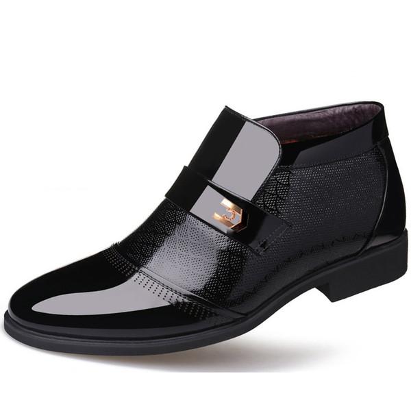 Nuevos hombres zapatos formales Oxford de cuero zapatos para hombres vestido de dedo del pie puntiagudo boda de negocios Zapatos De Hombre