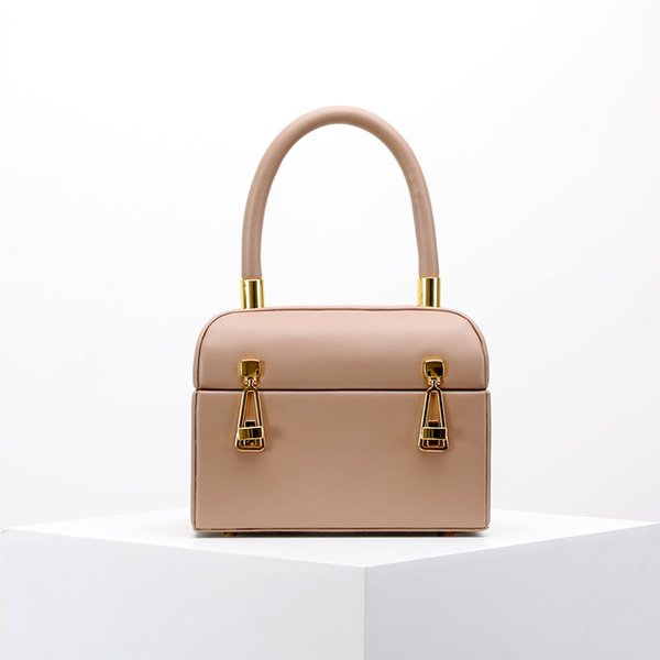 Belle2019 Square Genuine Leather Woman Package Case Bag Small Luggage And Bags