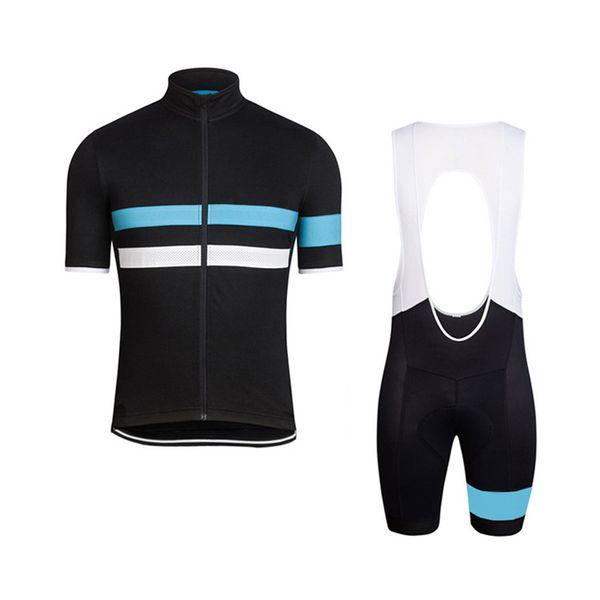Men Bike Team rapha Cycling Jersey bib Shorts Set Short Sleeve MTB Bicycle uniform summer breathable quick dry racing sportswear Y041101